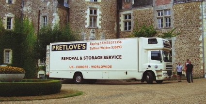 Modern Pretlove's removal and storage truck